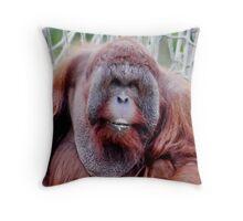 Orangutan Male Throw Pillow