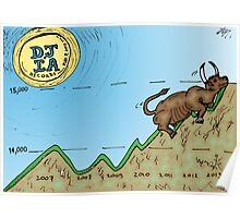 The DJIA Record At Bull Run Poster