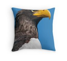 Does my Beak Look Big in Yellow? Throw Pillow