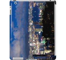 Hong Kong harbour and Kowloon peninsula by night iPad Case/Skin