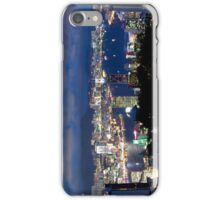 Hong Kong harbour and Kowloon peninsula by night iPhone Case/Skin