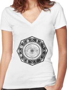 Future Vision Women's Fitted V-Neck T-Shirt