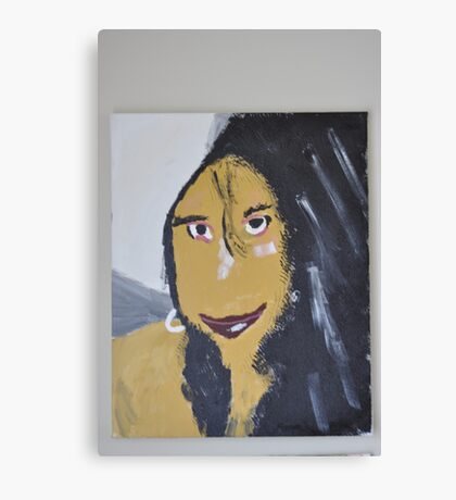 Happy Woman Canvas Print