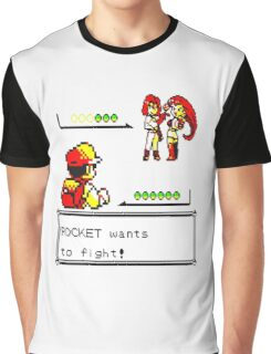Pokemon Yellow - Rocket Battle Graphic T-Shirt