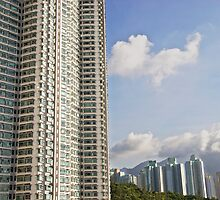 Hong Kong living - apartment blocks and nature side by side by Jamie Parker