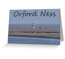 Orford Ness Greeting Card