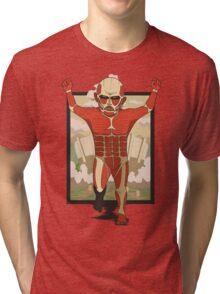 Happy Colossal Titan Tri-blend T-Shirt