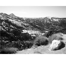 Mountain View in Black and White Photographic Print