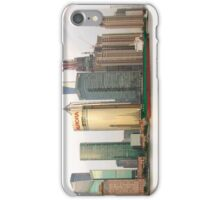 Shanghai cityscape with ocean liner iPhone Case/Skin