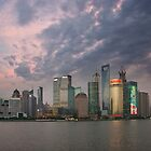 Shanghai skyline at dusk by Jamie Parker