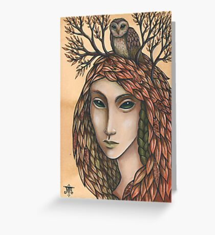 The Autumn Cloak Greeting Card