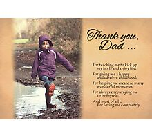 Father's Day - Great Childhood (Card) Photographic Print