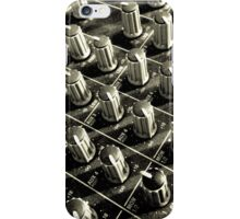 Grainy black and white mixing desk iPhone Case/Skin