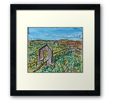 Watercolor Sketch - Alviso Marin Park. 2013 Framed Print