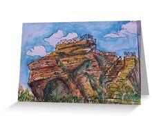 Watercolor Sketch - Rupe di Cerere, Enna, Sicily. 2013 Greeting Card
