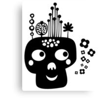 Funny skull. Canvas Print