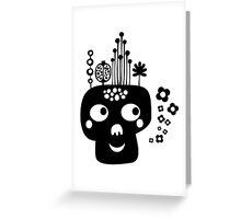 Funny skull. Greeting Card