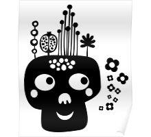 Funny skull. Poster