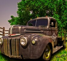Texana Rat Rod Flatbed Truck by ChasSinklier