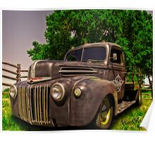 Texana Rat Rod Flatbed Truck Poster
