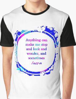 Kurt Vonnegut Learning Quote Design Graphic T-Shirt