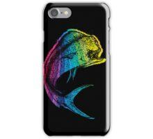 Rainbow Mahi Mahi on Black iPhone Case/Skin