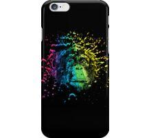 Rainbow Chimpanzee on Black iPhone Case/Skin