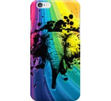 Charging Bull Elephant on Rainbow iPhone Case/Skin