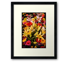 Cambodian Flower Arrangement Framed Print