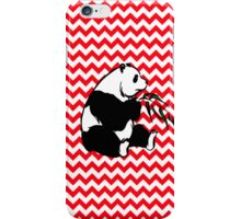 Panada on Fire Engine Red Chevron iPhone Case/Skin