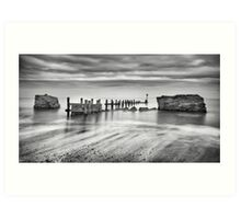 Beach Defences Art Print