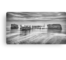 Beach Defences Metal Print