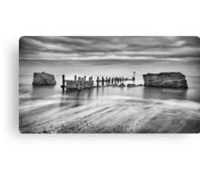 Beach Defences Canvas Print