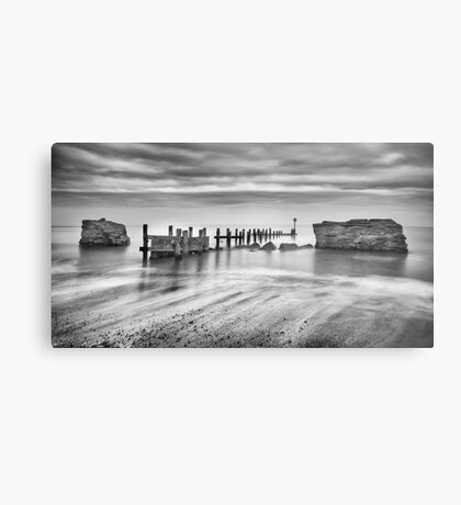 Beach Defences Metal Print