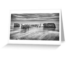 Beach Defences Greeting Card