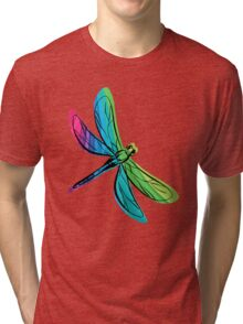 Rainbow Dragonfly Tri-blend T-Shirt