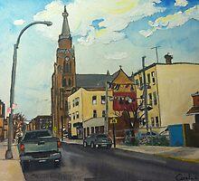Driggs Ave, Brooklyn NY by Caroline  Hajjar Duggan