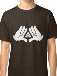 illuminati Mickey hands Classic T-Shirt