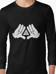 illuminati Mickey hands Long Sleeve T-Shirt