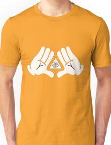 illuminati Mickey hands Unisex T-Shirt
