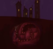The Sleeping Dragon Stirred Beneath the Little Houses by astralsid