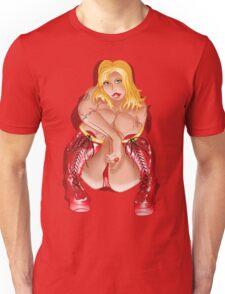 BBW Red Corset Boots  Unisex T-Shirt