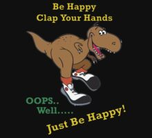 Happy T Rex dinosaur cartoon by KpncoolDesigns
