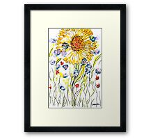 The extravert, hand drawn art card, 2x3 inches Framed Print