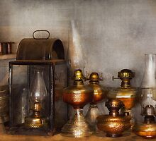 Electrician - A collection of oil lanterns  by Mike  Savad