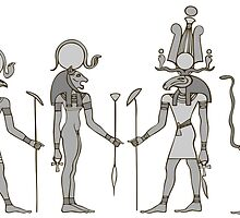 Gods of ancient Egypt by siloto
