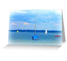 Ammersee boats Greeting Card