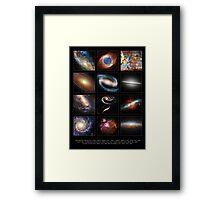 Space Beauties Framed Print