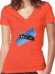 Remote Graffiti Women's Fitted V-Neck T-Shirt