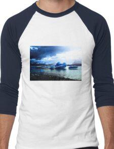 Ice Blue Men's Baseball ¾ T-Shirt